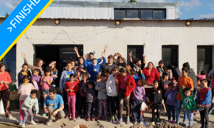 Expansion of community soup kitchen in La Plata