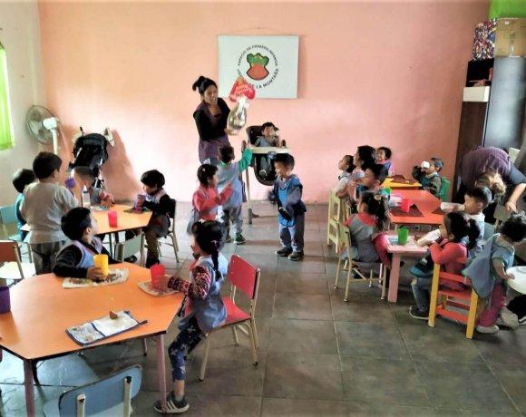 """Strengthening of the """"Jardín de la montaña"""" (kindergarten)"""